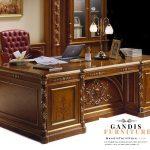 Meja kantor minimalis kayu jati asli jepara