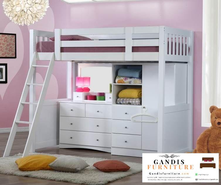 tempat tidur tingkat murah minimalis putih