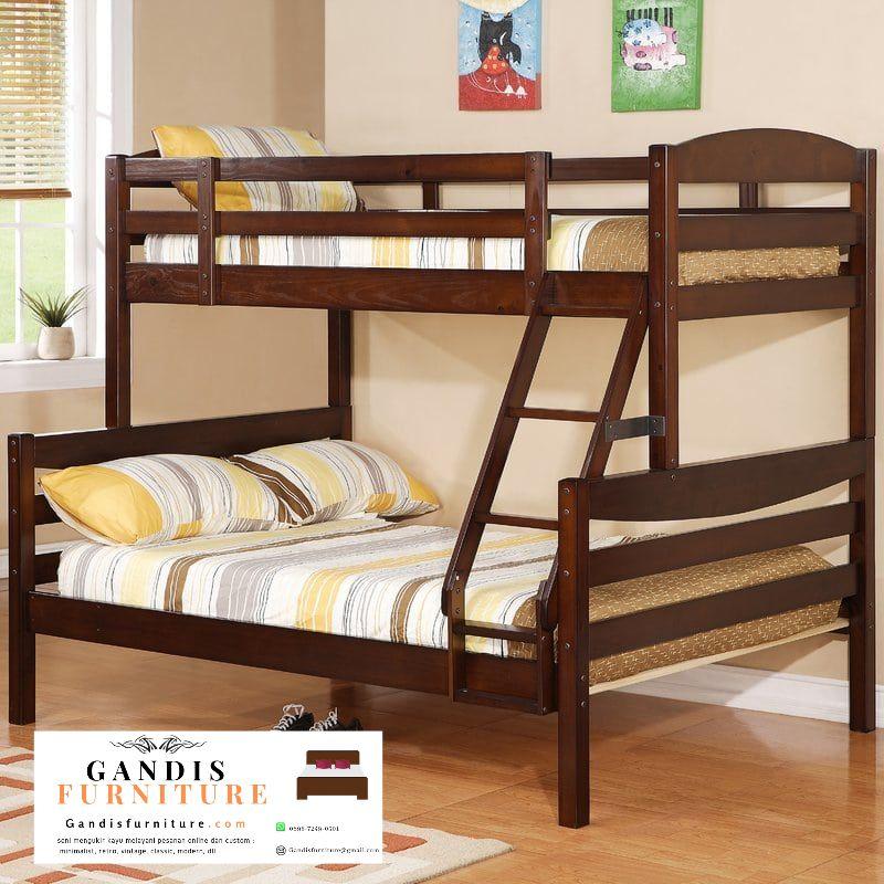 tempat tidur tingkat murah minimalis natural