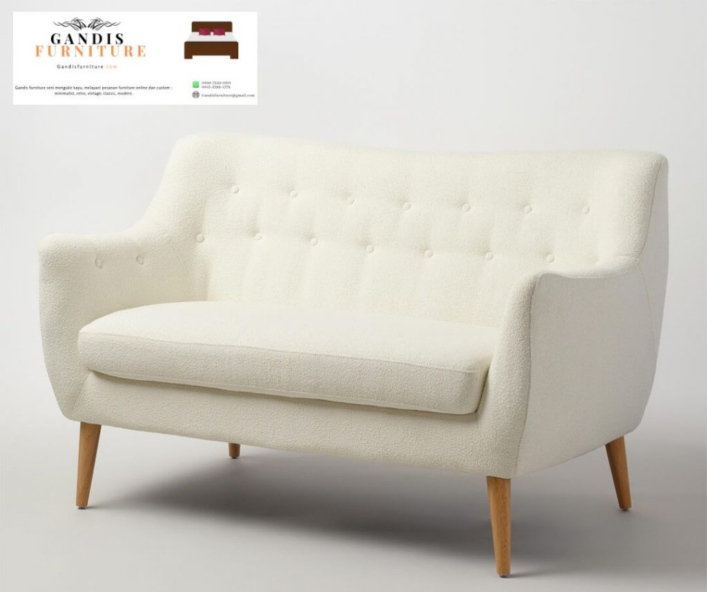 sofa Minimalis putih scandinavian