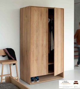 lemari pakaian minimalis kayu jati
