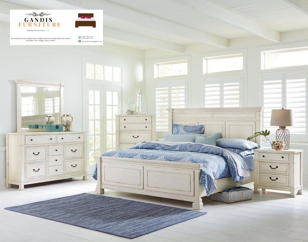 kamar set minimalis putih duco