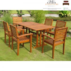 set meja makan outdoor