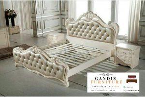 Tempat tidur mewah duco putih
