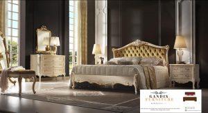 set kamar tidur mewah duco corak emas