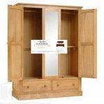 lemari pakaian minimalis kayu 2 pintu