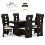 meja makan minimalis kursi 6 kayu jati