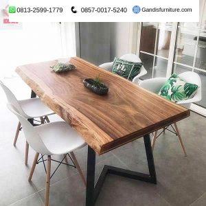 meja makan trembesi minimalis murah