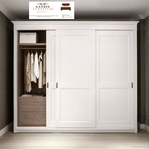 lemari pakaian minimalis kayu