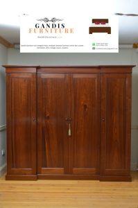 lemari pakaian kayu minimalis 4 pintu murah
