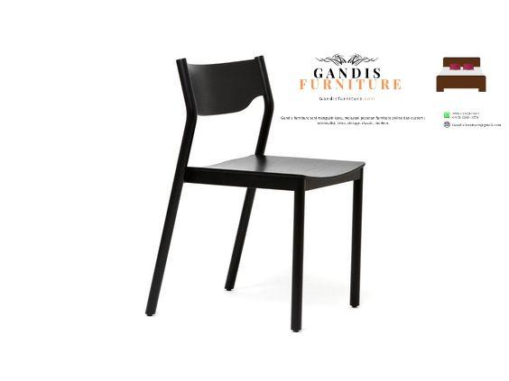 kursi cafe atau bar hitam minimalis