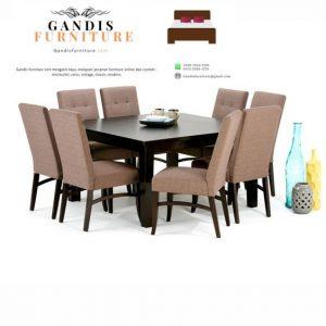 meja makan kayu minimalis modern terbaru