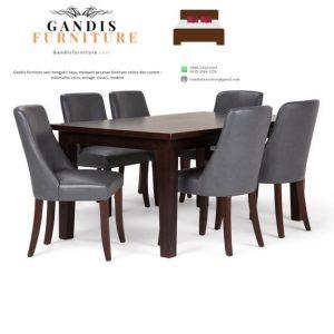 meja makan minimalis 8 kursi kayu jati jepara