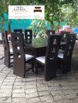 Meja makan minimalis murah kayu jati