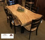 meja makan trembesi jepara unik kursi 6