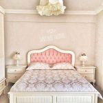 Tempat tidur modern mewah kayu jati