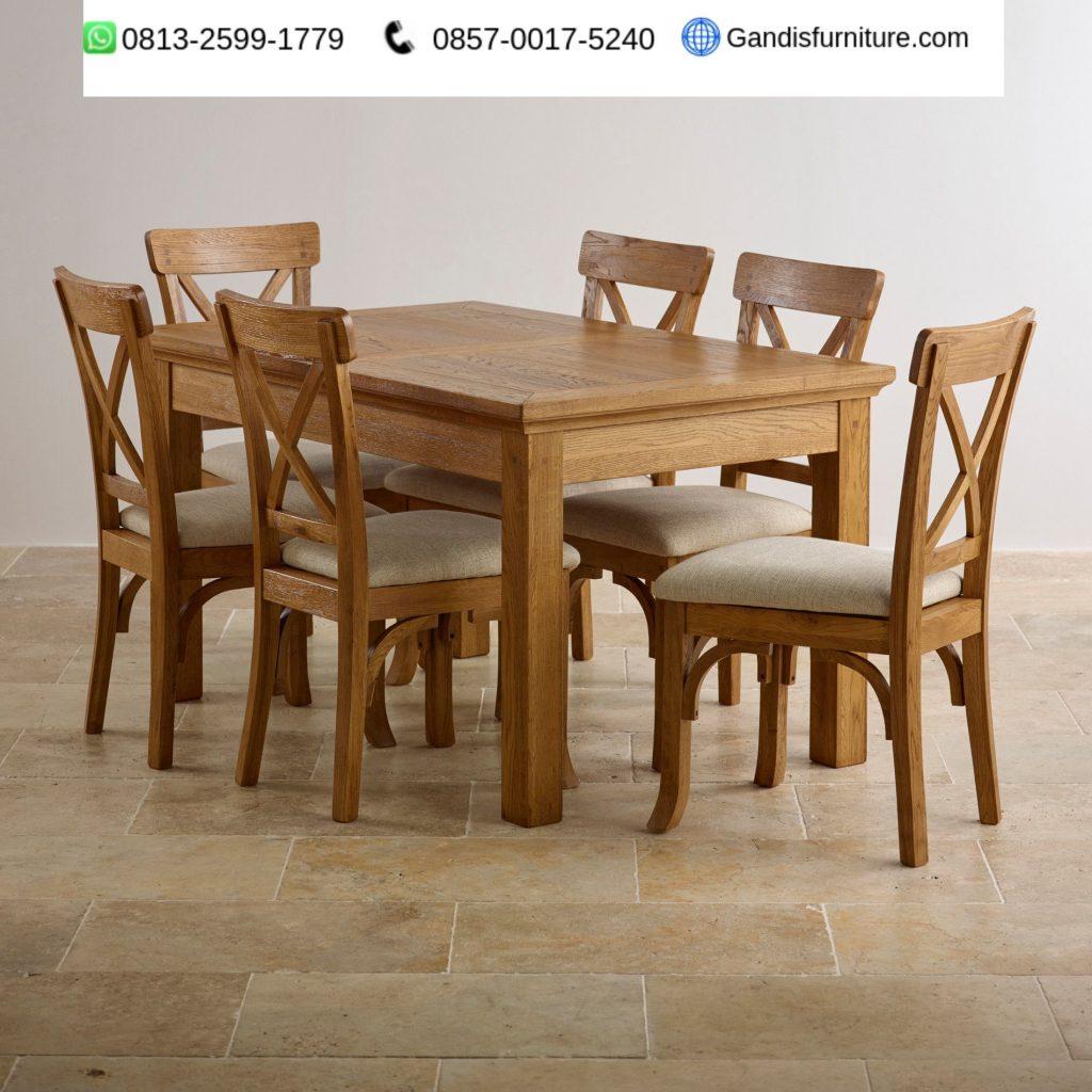 set meja makan minimalis 6 kursi