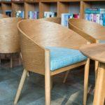 kursi cafe kayu lengkung jati jepara