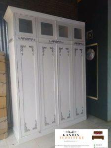 jual lemari pakaian duco putih