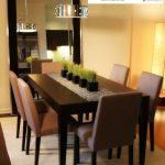 meja makan kayu jati minimalis 6 kursi