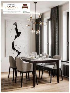 set meja makan mewah modern minimalis