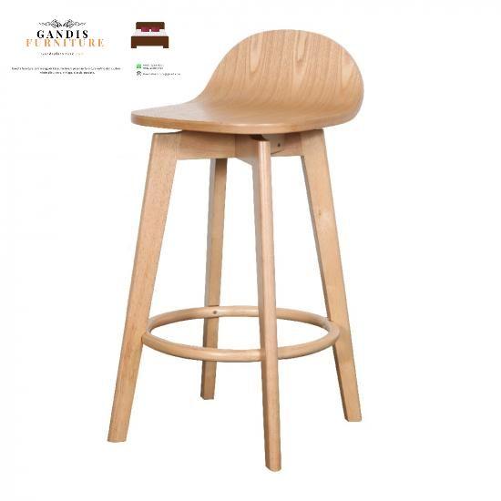 kursi cafe minimalis dengan bahan kayu jati kering