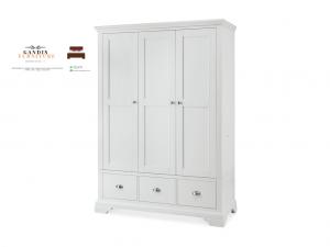 lemari pakaian 3 pintu duco putih