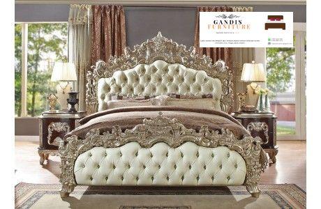 tempat tidur kayu mewah elegan ukiran jepara