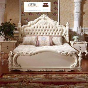 Tempat tidur mewah duco putih elegan