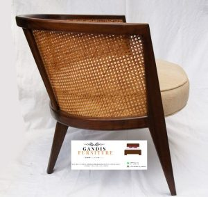 kursi kayu rotan
