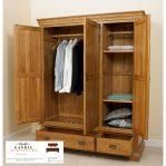 lemari pakaian minimalis 3 pintu jati