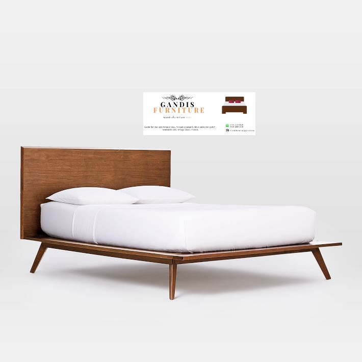 tempat tidur kayu minimalis sederhana