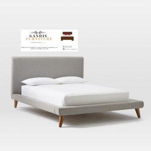 tempat tidur minimalis lapis kain modern