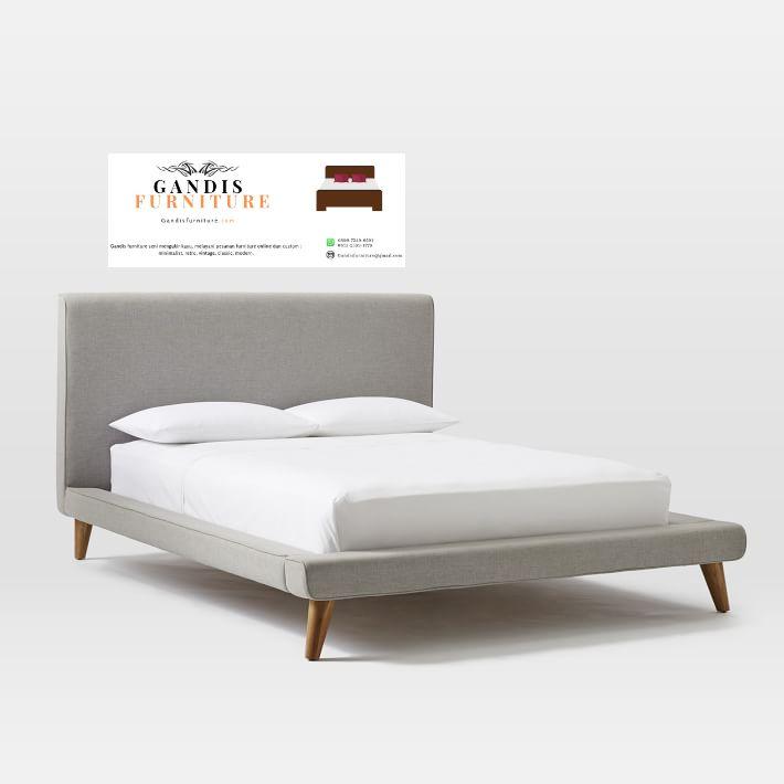 tempat tidur minimalis lapis kain
