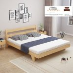 tempat tidur minimalis modern jati