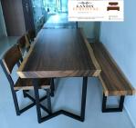 meja makan trembesi minimalis