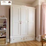 lemari pakaian minimalis putih kayu jepara murah