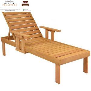 kursi lounger teak wood