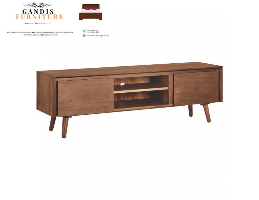 meja tv kayu minimlais murah