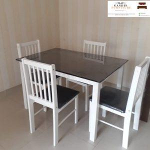 meja makan murah putih