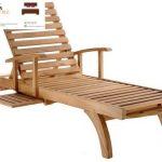 kursi lounger kayu jati | kursi pantai | kursi berjemur