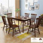 meja makan minimalis modern jati