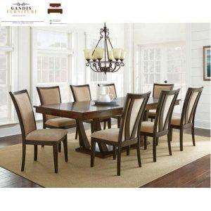set meja makan 8 kursi kayu jati murah