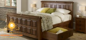 tempat tidur minimalis laci modern yogyakarta