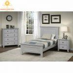 set kamar tidur anak putih modern
