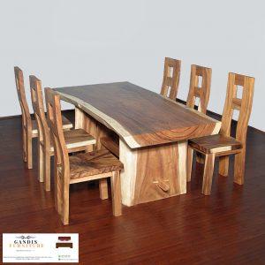 meja trembesi murah kayu utuh