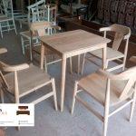 model kursi cafe kayu sungkai terbaru