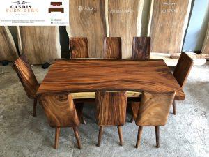 meja makan kayu trembesi murah