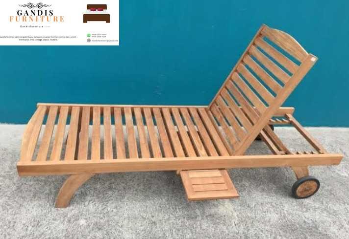 kursi lounger murah kayu jati