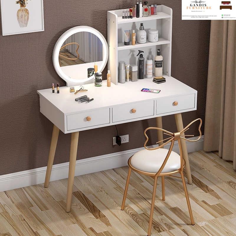 meja rias minimalis putih